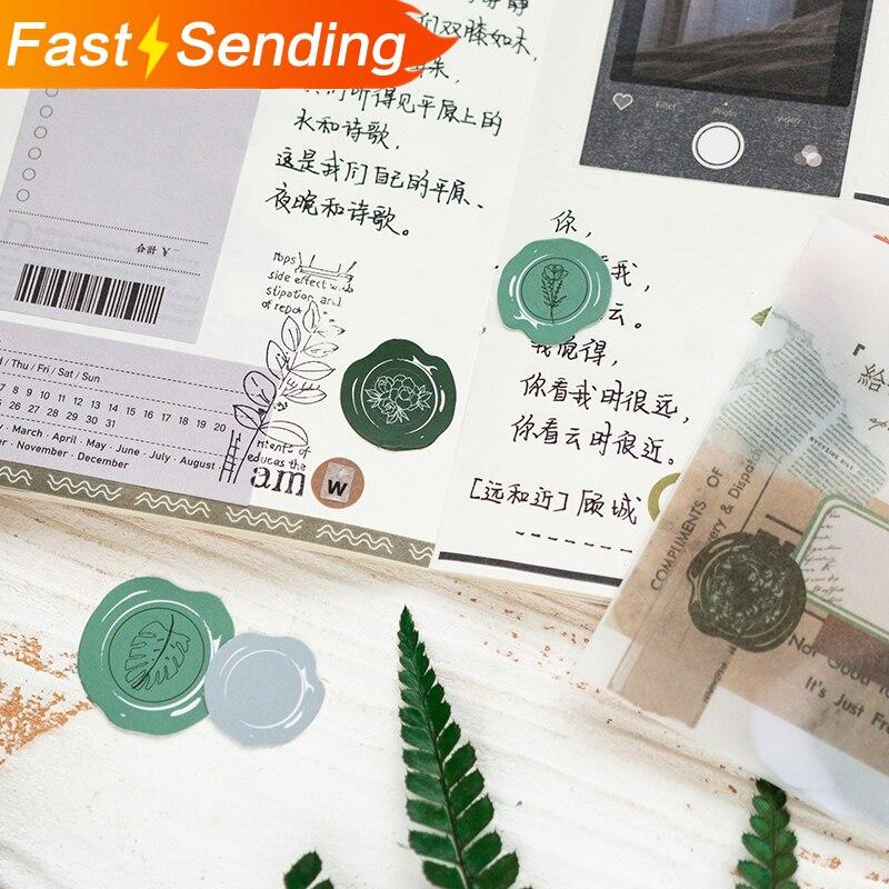 JIANWU 30pcs/set Creative Envelope Sealing Sticker Diy Washi Sticker Diary Sticker Student Stationery