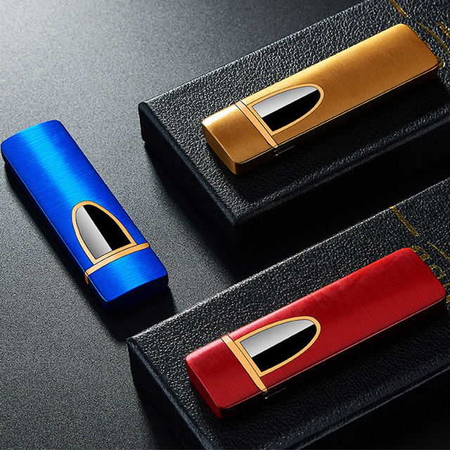USB Ultrathin Electronic Windproof Touch Induction Lighter