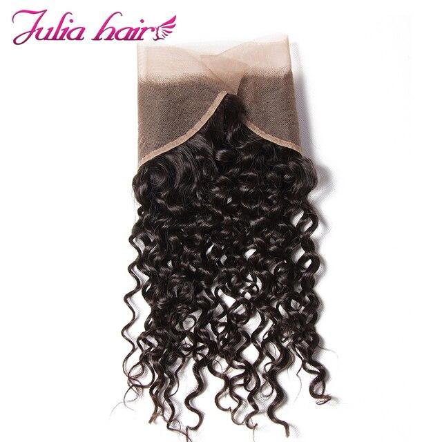 Ali Julia malezyjski kręcone włosy koronkowe przednie wstępnie oskubane 13x4 ucho do ucha kręcone przednie 10 do 20 cali ludzki włos koronki przednie