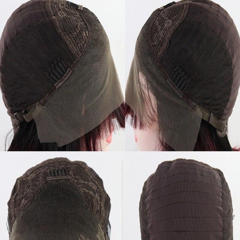 Comprimento médio bob natural preto encaracolado perucas