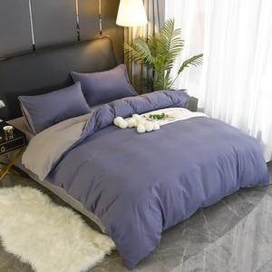 Image 5 - 1pc 100% baumwolle bettbezug twin könig königin größe stoff einfarbig quilt abdeckung Multi farbe und multi größe optional
