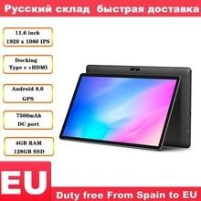 Teclast M16 11.6 inç 4G Tablet Android 8.0 Tablet PC Helio X27 2.6GHz Deca çekirdek CPU 4GB RAM128GB ROM yerleştirme tipi HDMI