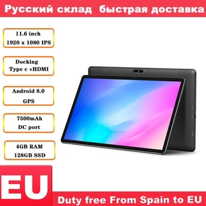 Image 1 - Teclast M16 11,6 zoll 4G Tablet Android 8,0 Tablet PC Helio X27 2,6 GHz Deca core CPU 4GB RAM128GB ROM Docking Typ C HDMI