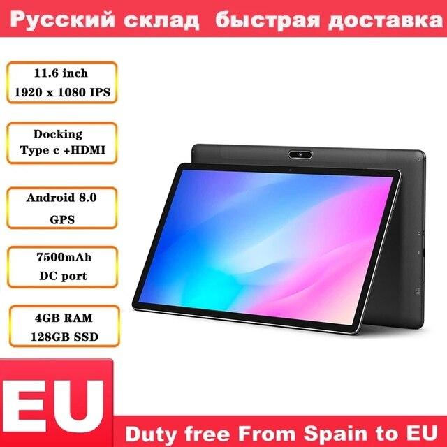Teclast tablette PC Android 11.6 de 8.0 pouces M16, avec processeur 4G, Helio X27, 2.6GHz, Deca core, CPU, 4 go, ram 128go, ROM, station daccueil type c, HDMI