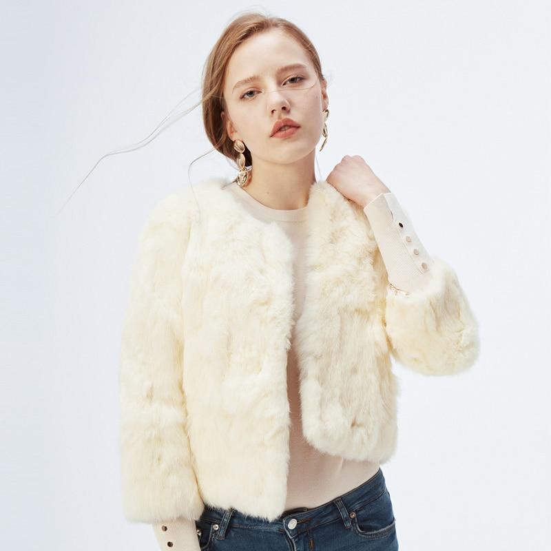 Genuine Full Pelt Fur Jacket Women s Design Rabbit Fur Coat Natural Wholeskin Fur Coat O