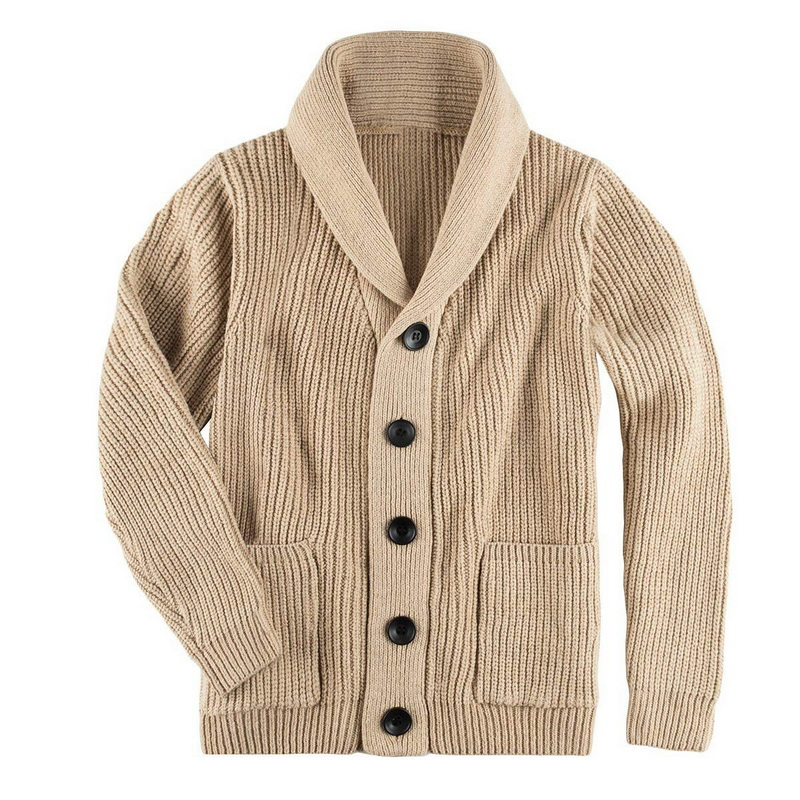 Men Fashion Sweater Autumn Winter Warm Knitted Cardigan 2019 New Men Single Breasted Casual Outwear Sweater Coats With Pockets