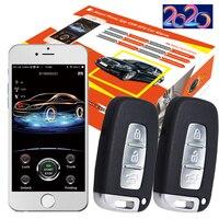 Cardot 2g Gps Gsm pke 스마트 푸시 버튼 시작 중지 자동차 경보 시스템
