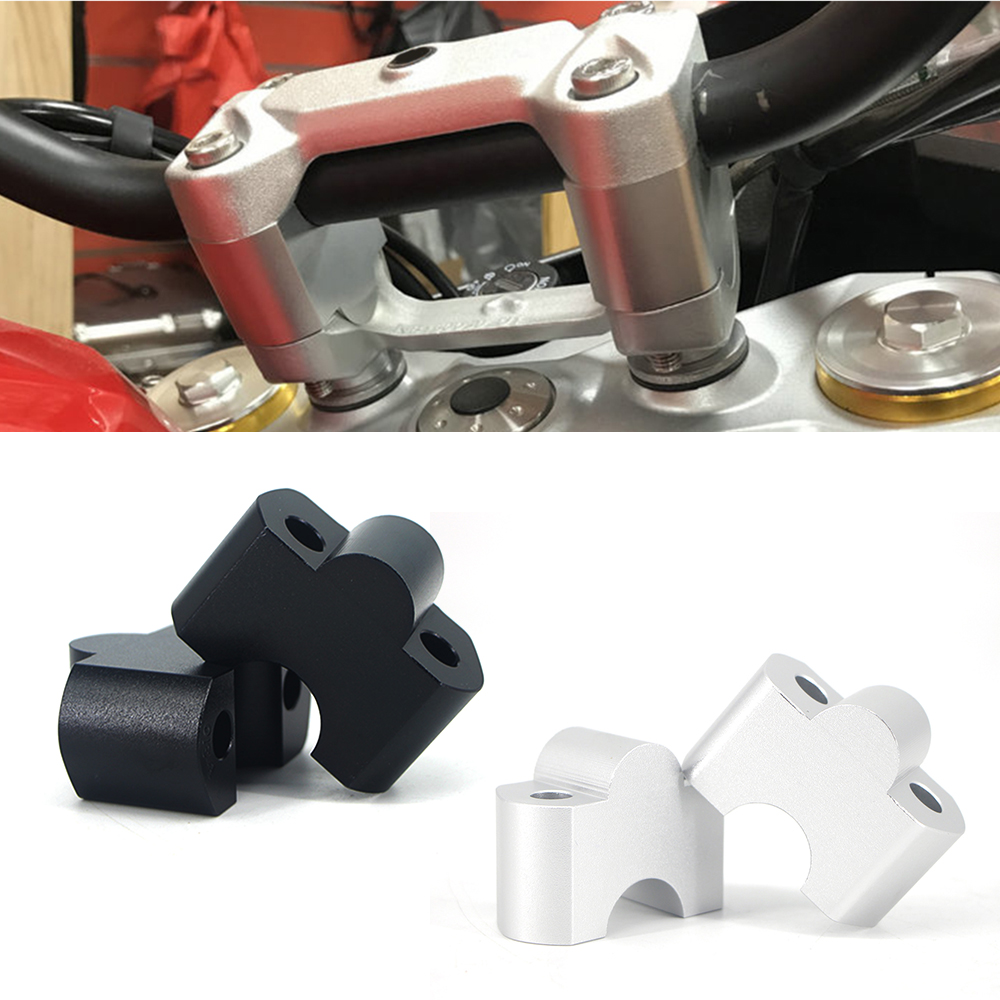 Motorcycle Handlebar Riser Extend Handle Bar Mount Clamp Adapter Aluminum Alloy 22MM For <font><b>BMW</b></font> G310GS G310 R <font><b>G</b></font> <font><b>310</b></font> <font><b>GS</b></font>/R 2017-2020 image