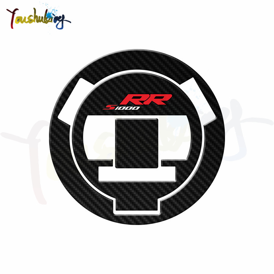 Carbon Fiber Motorcycle Sticker Fuel Tank Cap Decal For  S1000RR S1000R S1000 RR HP4