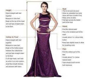 Image 5 - Vestido de fiesta largo árabe con lentejuelas brillantes, rosa dorado, tirantes finos, Espalda descubierta, 2020