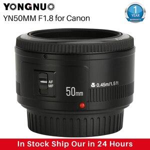 YONGNUO YN50mm YN50 F1.8 EF EOS 50MM AF MF Camera Lens For Canon Rebel T6 EOS 700D 750D 800D Mark II IV For Sony ZV-1 RX100 VII