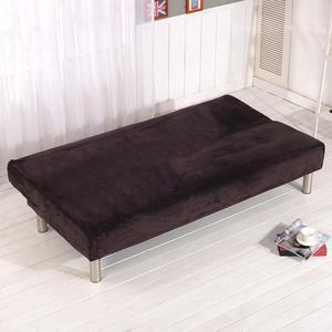 Image 4 - Новый высококачественный удобный толстый плюшевый чехол для дивана, чехол с полным покрытием, раскладной диван кровать без подлокотника, оптовая продажа