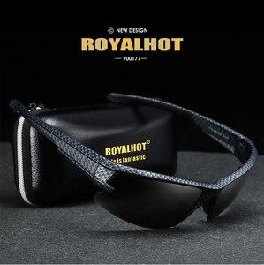 Image 5 - RoyalHot mężczyźni kobiety spolaryzowane siatka diamentowa rama sportowe okulary przeciwsłoneczne Vintage okulary okulary retro odcienie óculos mężczyzna 900177