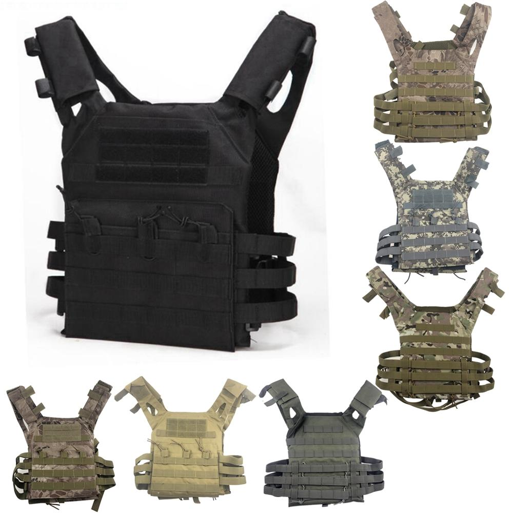 New Men Hunting Tactical Vest Military Molle Plate Carrier Magazine Airsoft Paintball CS Outdoor Protective Lightweight Vest