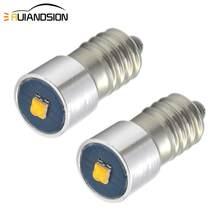 2x E10 Led Umwandlung/Upgrade Birne Für Petzl Zoom Duo Kopf Taschenlampe Kopf Lampe 6-30V weiß 3000K