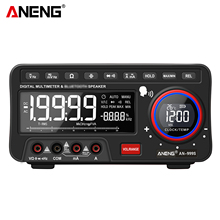 ANENG 2-In-1 BT Speaker AC/DC Bench True-RMS Voice Broadcast Multimeter Auto-Ranging with Amp Volt Ohm Continuity Frequency Test