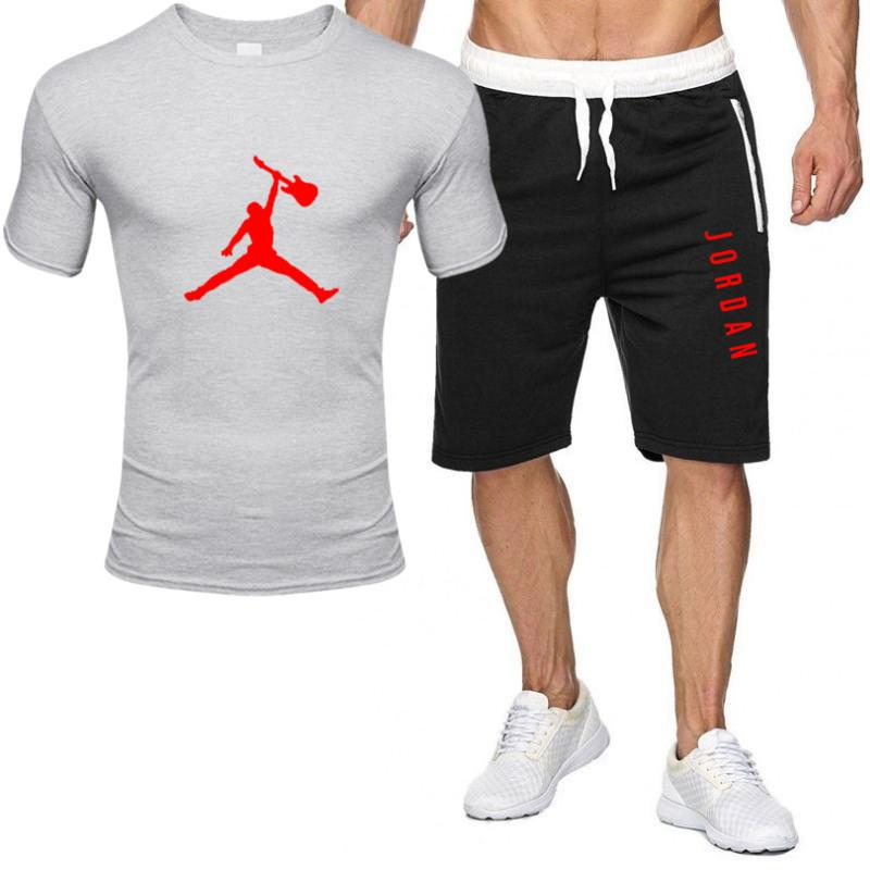 2piece set men outfits jordan 23 t-shirt shorts summer short set tracksuit men sport suit jogging sweatsuit basketball jersey 3