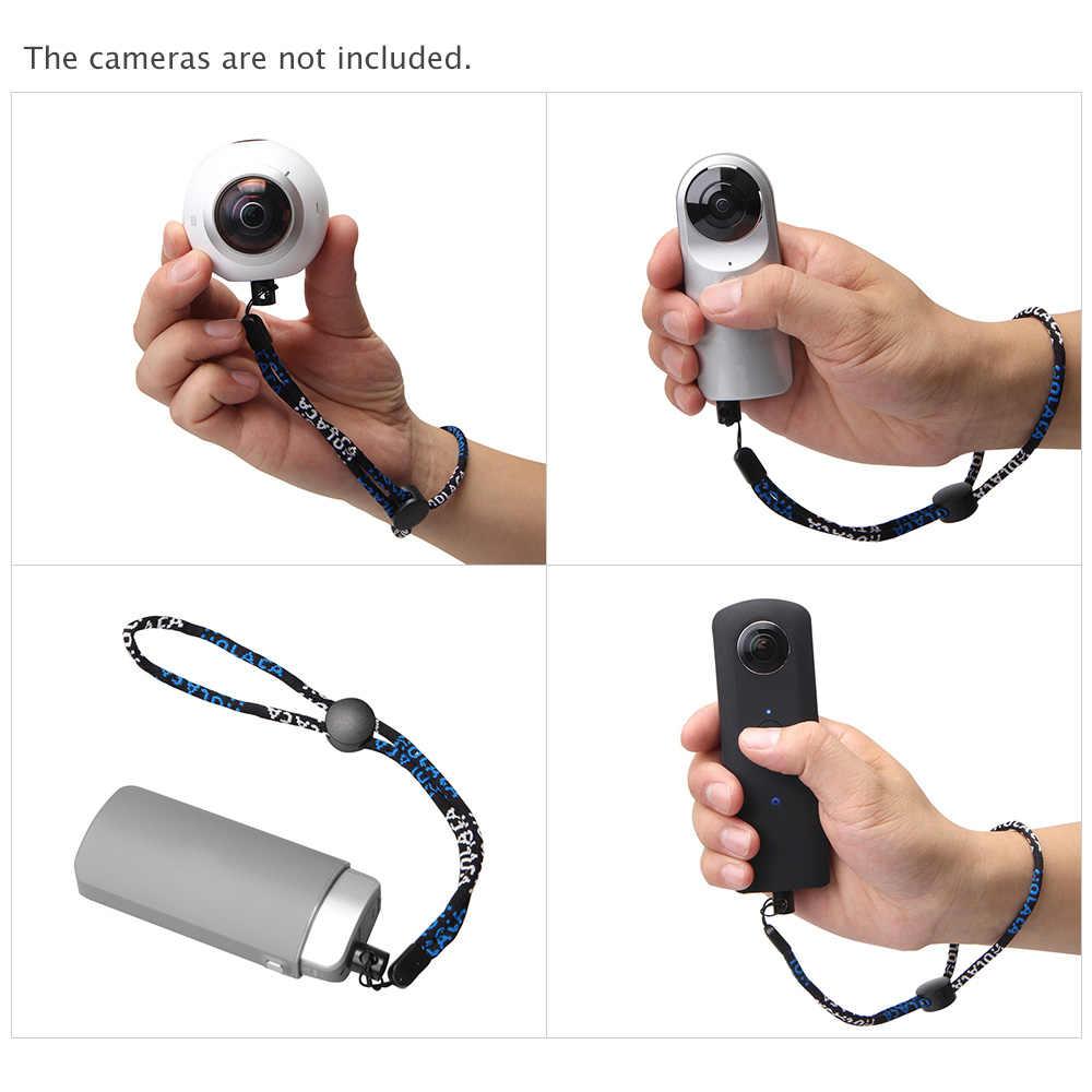 Andoer كاميرا الرقبة شريط للرسغ مع 1/4 طقم الجوز المسمار لريكو ثيتا S & M15 لlg 360 كام لكاميرا سامسونج جير 360