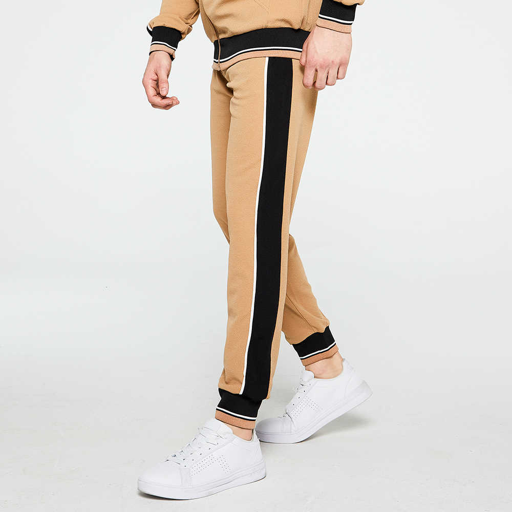 Trainingsanzug Männer Sets Mode Marke Qualität Sportwear Männlichen Zipper Mantel Hosen 2 Stück Set Schweiß Anzug Sporting Fitness Sets Plus größe
