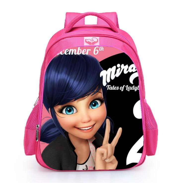 fashion printed schoolbag girl elementary school children comfortable wear-resistant cartoon lightening pink backpack