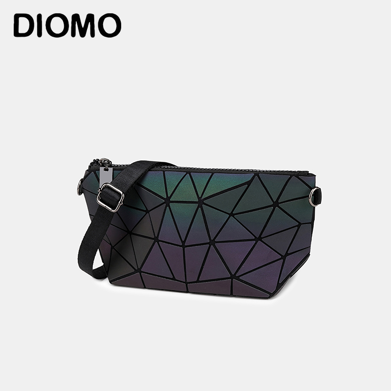 DIOMO 2020 Ladies Geometric Handbag Luminous Crossbody Bag With 2 Shoulder Straps For Women Multicolor Optional Messenger Bag