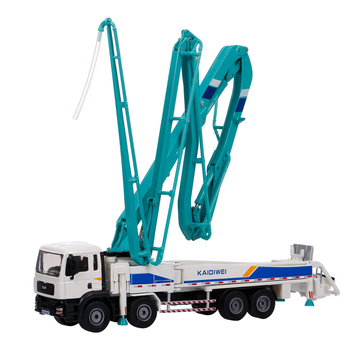 1:55 Alloy Car Truck Model Concrete Pump Truck Adult Metal Ornaments Children's Christmas New Year Gift Toys 1