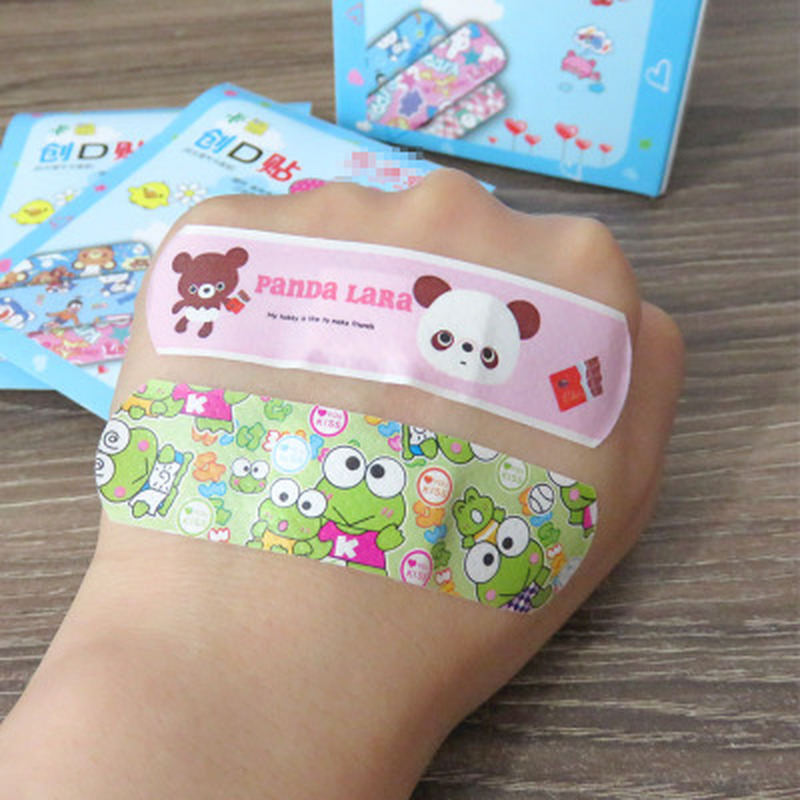 100pieces Of Cartoon Band-aid Medical Small Fresh Children Cute Breathable Version Of The Band-aid Waterproof Hemostatic Bandage