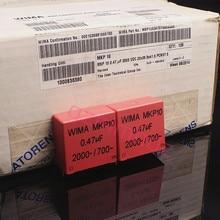 2PCS RED WIMA MKP10 0,47 UF 2000V p37.5mm original neue MKP 10 474/2000V audio 470nf 2KV film 474 1700VAC PCM37.5 heißer verkauf