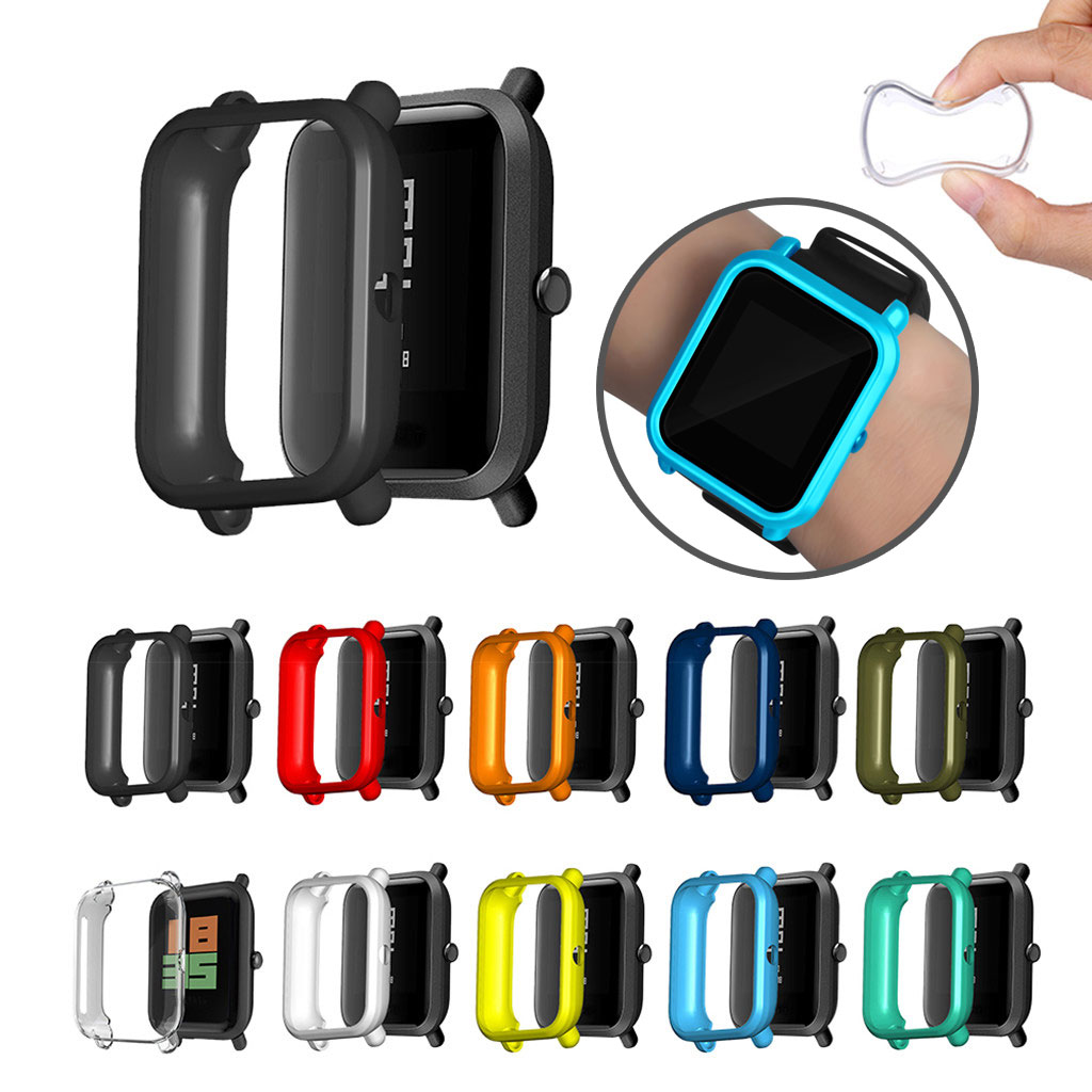 Soft TPU Case Protective Cover Shell Protector For Xiaomi Huami Amazfit Bip Youth/Lite Screen Protector