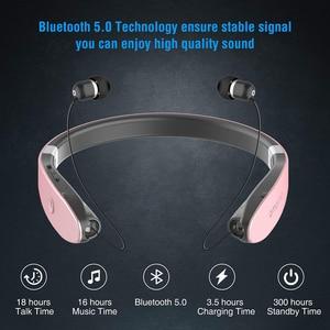 Image 2 - AMORNO طوي سماعات بلوتوث سماعات رأس لاسلكية قابل للسحب سماعات الأذن Sweatproof إلغاء الضوضاء سماعات ستيريو