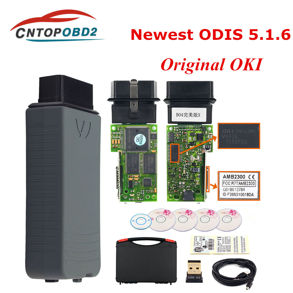 OKI 5054A ODIS V5 1 3 Keygen Original AMB2300 OKI Full Chip Wifi 5054A With Buzzer UDS 5054 Bluetooth 6154 ODIS 5 1 5