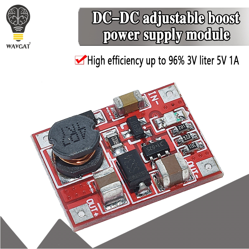 DC-DC Boost Power Supply Module Converter Booster Step Up Circuit Board 3V to 5V 1A Highest Efficiency 96% Ultra Small WAVGAT