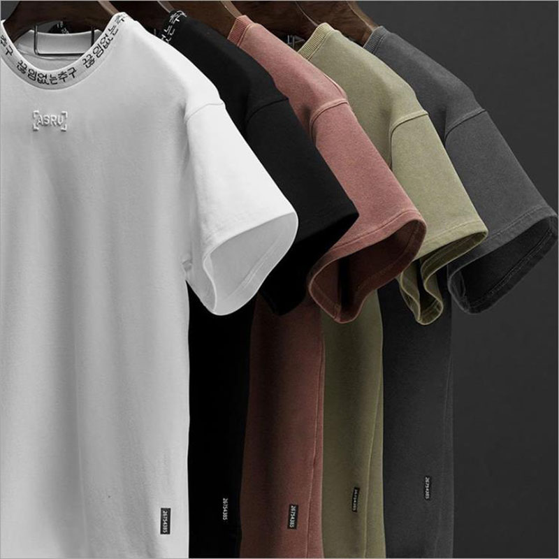 2020 Mens Fashion T Shirt Spring Summer New Leisure Shirts Fitness Bodybuilding Long Sleeve Male Personality Slim Tee Tops Cloth