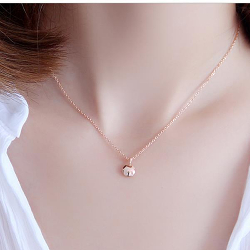 Women New Fashion 925 Sterling Silver Lucky Girl Pendant Necklaces Fine Jewelry Necklace Accessories