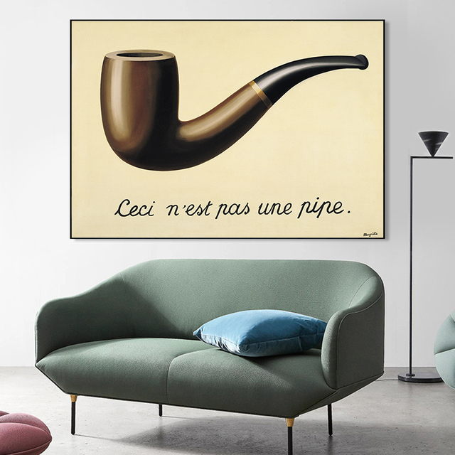 The Treachery of Images This Is Not a Pipe by René Magritte 1