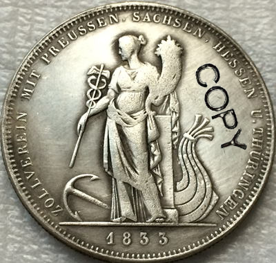 <font><b>1833</b></font> German states coins copy Free shipping image