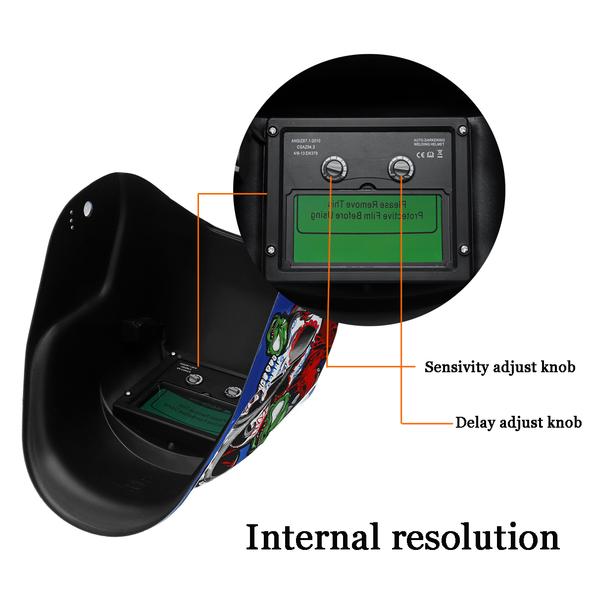 Tools : 2020 New Solar Automatic Photoelectric Welding Mask Helmet Welding Caps Solar Power Welding Helmets Adjustable Headband
