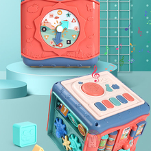 Baby Toys Cube Educational-Box Montessori-Shape Activity Play Music Infant Kids 24-Months