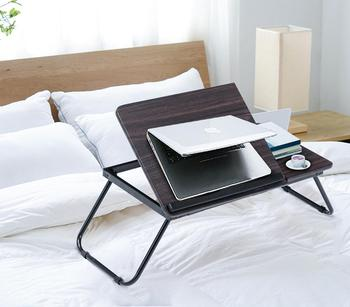 Laptop Snack & Coffee Desk Breakfast Folding Bed Table Small Desk on Bed Sofa Tea End Tray