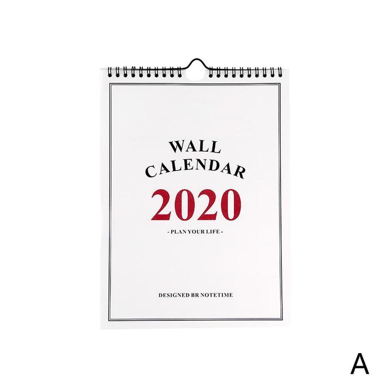 2020 Daily Schedule Monthly Schedule Wall Calendar Planner Planner 2020 Hand Days 365 Drawing Supplies Office Calendar J5M4