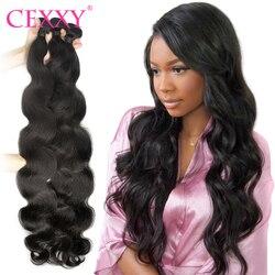 Tissage en lot brésilien 100% naturel Remy Hair, couleur naturelle, 34 36 38 40 pouces, Extensions de cheveux, pour femmes, 1 3 4 lots