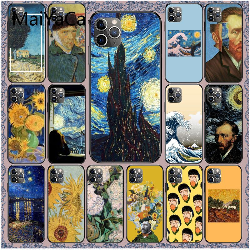 Maiyaca Great art aesthetic van Gogh The starry sky Phone Accessories Case for iPhone 11 Pro XS MAX XS XR 8 7 6 Plus 5 5S SE