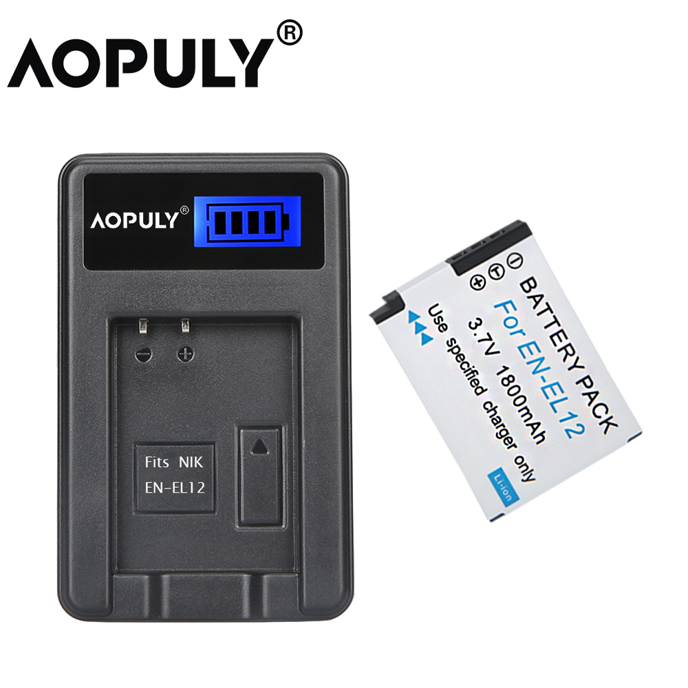 1Pcs EN-EL12 ENEL2 EN EL12 Battery +LCD USB Charger For Nikon COOLPIX S9100 S9200 S9050 P300 P310 P330 S6200 S6300 S9400 S9500 image