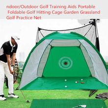 Indoor/Outdoor Golf Training Aids Portable Foldable Golf Hitting Cage Garden Grassland Golf Practice Net(China)