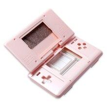 Coque de boîtier avec boutons pour remplacement de Console de jeu DS couvercle de étui de protection anti poussière avec boutons pièces de réparation clés