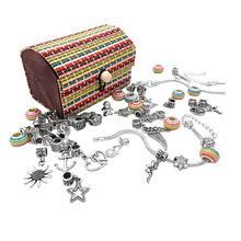 """Набор разноцветных акриловых бусин для девочек """"сделай сам"""", набор игрушек, ювелирных изделий, ожерелья, браслетов ручной работы, для девочек, детей, игрушки для изготовления"""