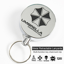 Metal Retractable Key Chain Lanyards Id Badge Holder Reel Lanyard Clip Name Bage Holder Tags Card Holder  Guard Against Theft
