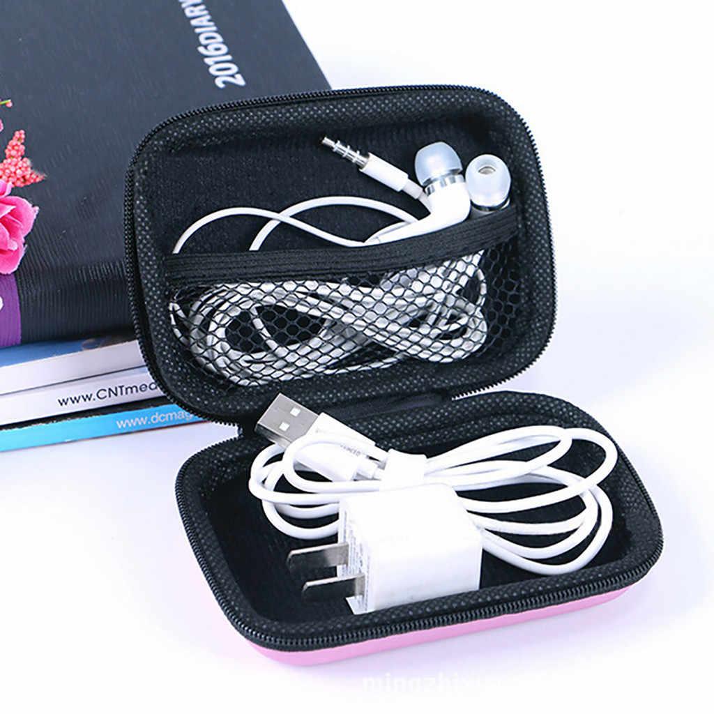 Bluetooth Headset Penyimpanan Tas Mini Zipper Headphone Casemobile Telepon Kabel Data Charger Kotak Penyimpanan Portabel Perjalanan Organizer