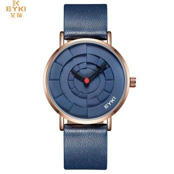 NO.2 Brand Men Three-dimensional Dial Sport Watches Lover's Woman Simple Leather Creative Design Quartz Wrist Watch Black Clock