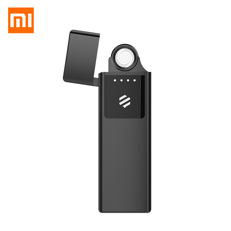 Xiaomi Mijia Metal Electronic Cigarette Lighter USB Rechargeable Touch Screen Windproof Cigarette Gadgets Men Secure No Fire
